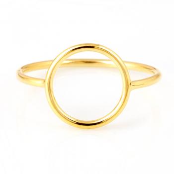 Bijou femme, bague ajourée rond, or jaune et blanc, 9 carats