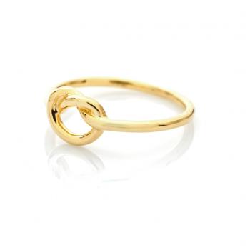 Bijou femme bague noeud marin Or jaune ou Or blanc 9 carats