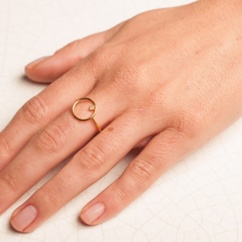 Bijou femme, bague ajourée rond, Or jaune ou Or blanc, 9 carats