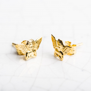 Boucles d'oreilles ange en Or jaune ou Or blanc