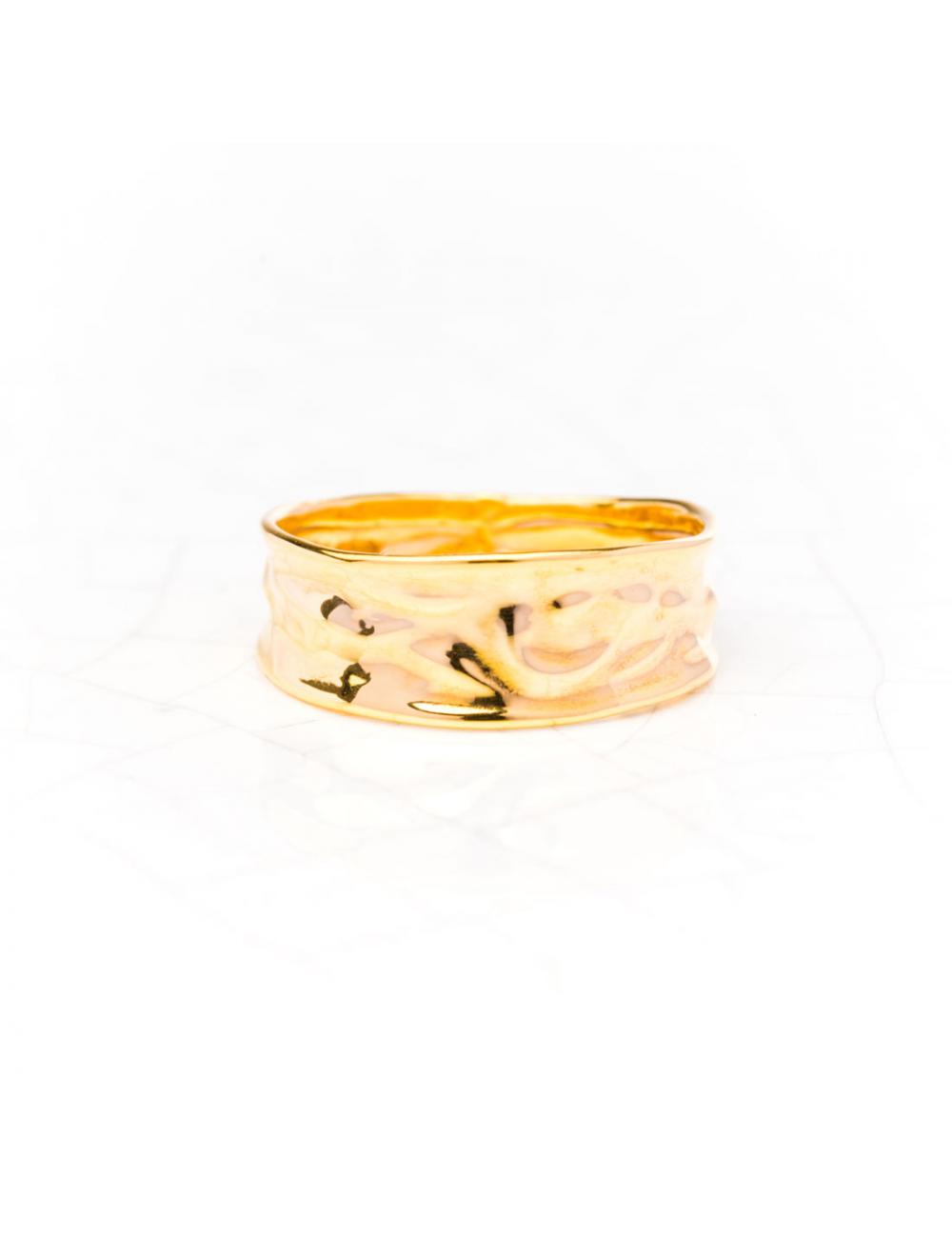 Bague en or froissée Or jaune ou Or blanc 9 carats