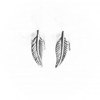 Bijou femme boucles d'oreilles plume en Or jaune ou Or blanc